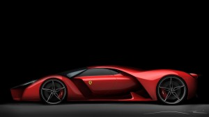 This is the most futuristic Farrari I have ever seen.